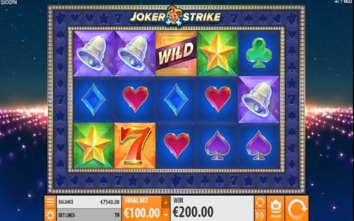 Joker Strike, Online Casino Bonus, Quickspin