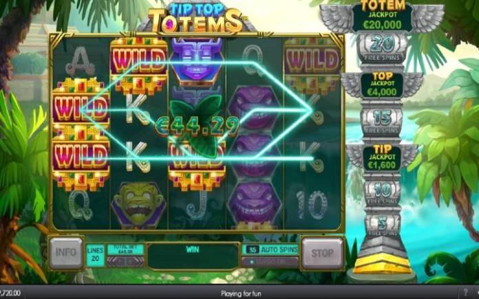 Tip Top Totems, Online Casino Bonus, Playtech