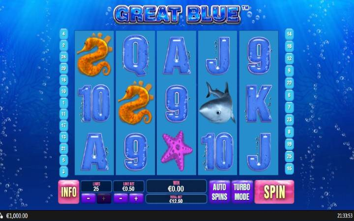 Great Blue, Playtech, Online Casino Bonus
