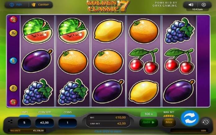 Golden 7 Classic, Online Casino Bonus, Oryx