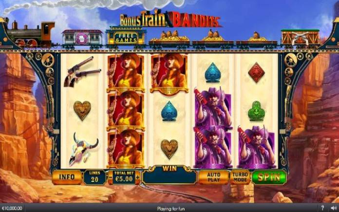 Online Casino Bonus, Bonus Train Bandits, Playtech