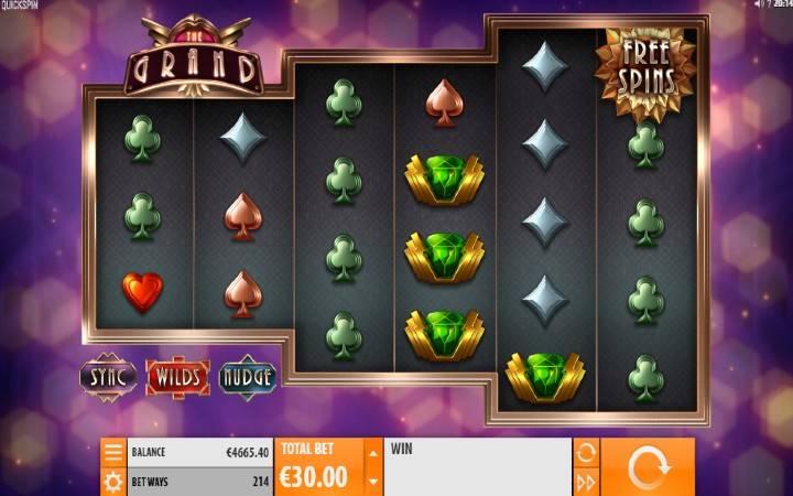 The Grand, Quickspin, Online Casino Bonus