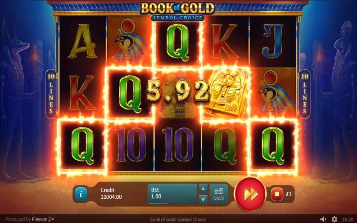 Džoker, Online Casino Bonus, Book of Gold: Symbol Choice