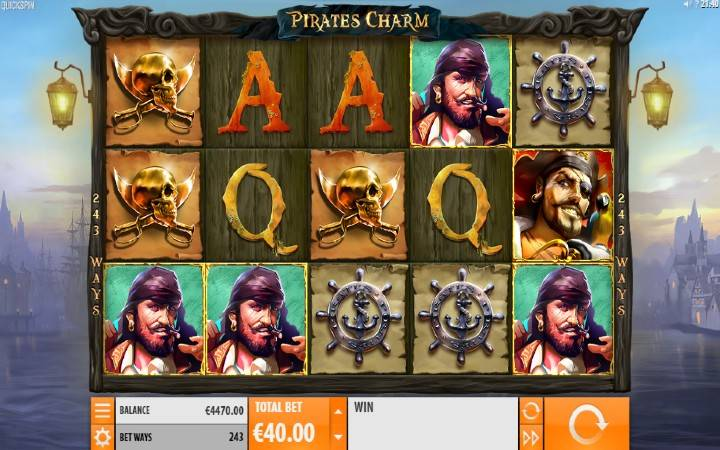Pirates Charm, Quickspin, Online Casino Bonus