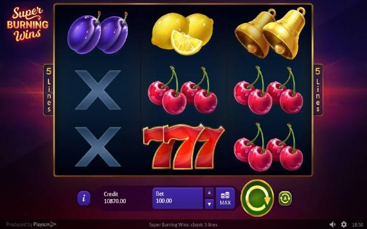 Super Burning Wins, Online Casino Bonus, Playson