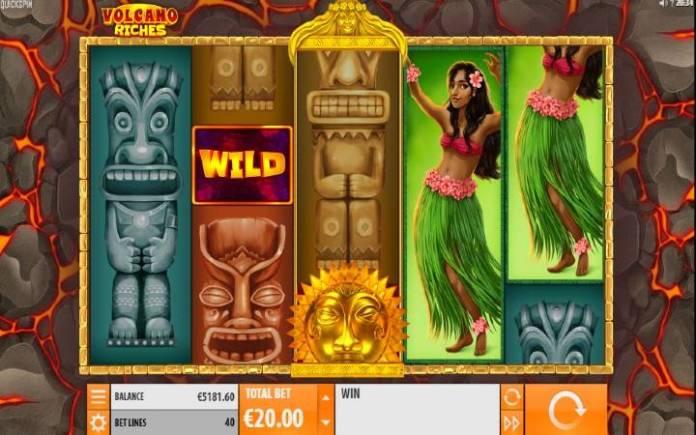 Volcano Riches, Online Casino Bonus, Quickspin