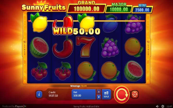 Džoker, Online Casino Bonus, Sunny Fruits: Hold and Win