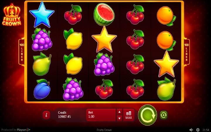 Online Casino Bonus, scatter-i, Zlatna i dijamatska zvezda, Fruity Crown