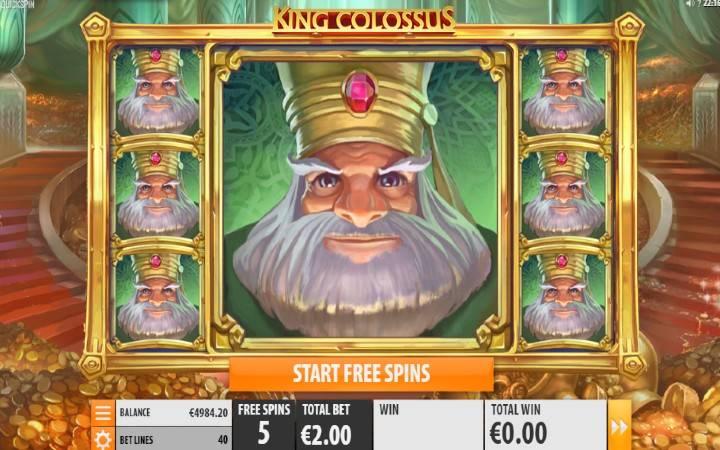 Džinovski simbol, Online Casino Bonus, King Colossus