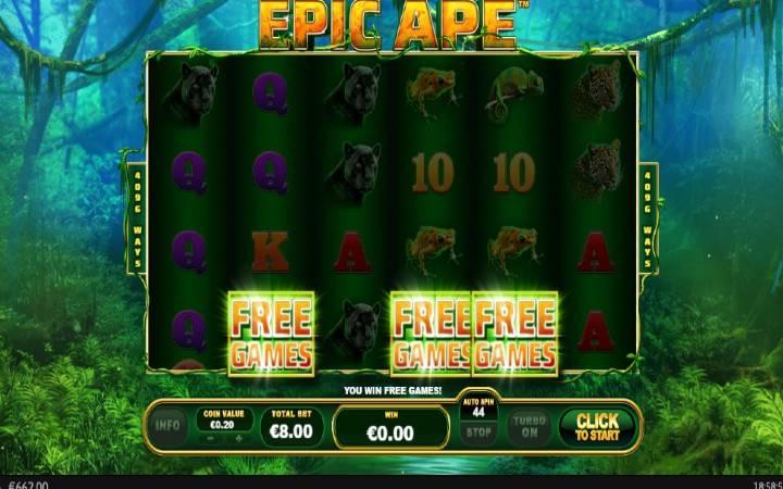 Besplatni Spinovi, Epic Ape, Online Casino Bonus