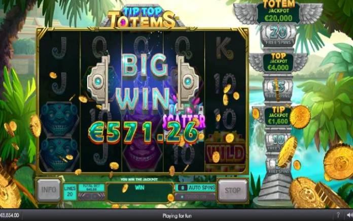 Totemania, Online Casino Bonus, Tip Top Totems