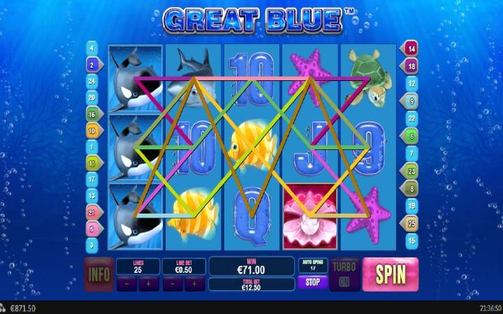 Džoker, Online Casino Bonus, Great Blue