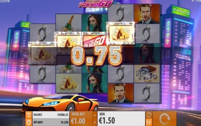 Respin on Any Win, Wild Chase: Tokyo Go, Online Casino Bonus