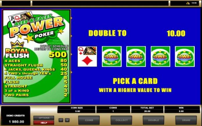 Dupliranje, Kockanje, Aces and Faces Power Poker, Online Casino Bonus