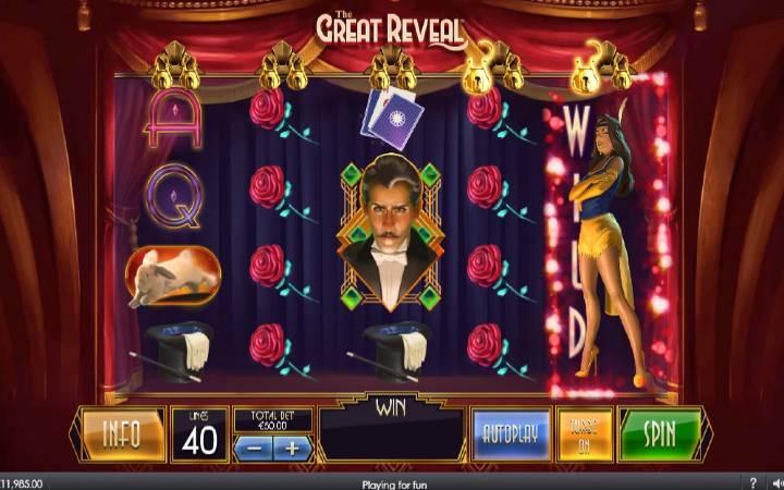 The Great Reveal, Online Casino Bonus, Playtech