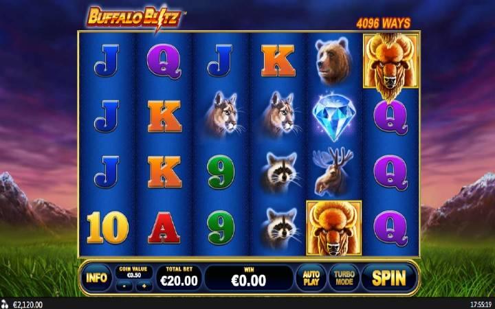 Buffalo Blitz, Online Casino Bonus, Playtech