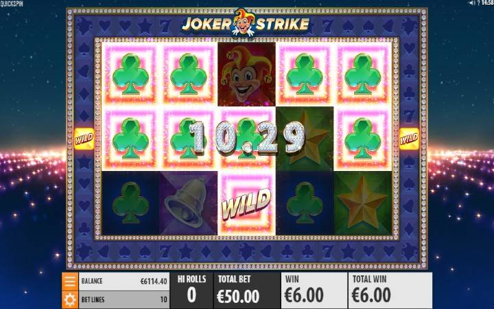 Online Casino Bonus, Joker Strike, Quickspin