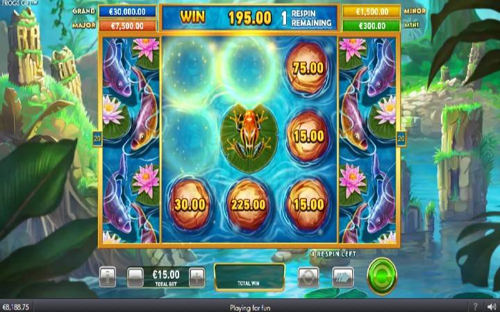 Respin, Frogs Gift, Online Casino Bonus