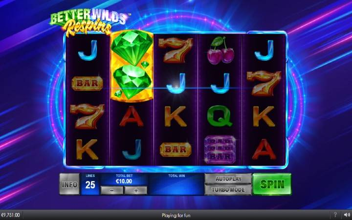 Respin, Online Casino Bonus, Better Wilds