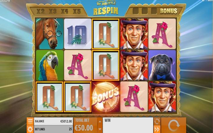 Respin, Online Casino Bonus, Tales of Dr Dolittle