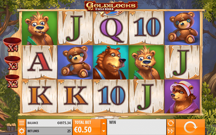 Goldilocks, Quickspin, Playtech, Online Casino Bonus