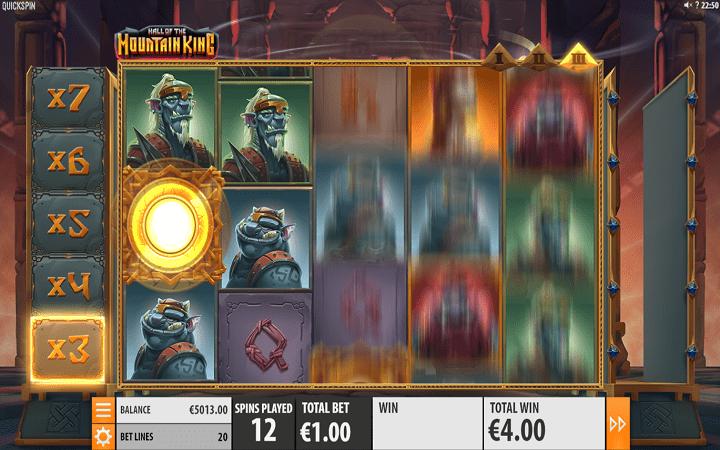 Hall of the Mountain King, Quickspin, Playtech, Online Casino Bonus