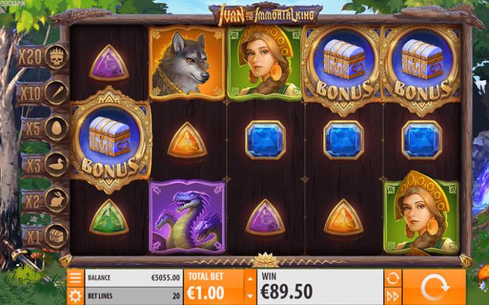 Ivan and the Immortal King slot-tabla slota-tri scatter simbola pokreću bonus igru