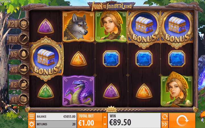 Ivan and the Immortal King, Quickspin, Playtech, Online Casino Bonus
