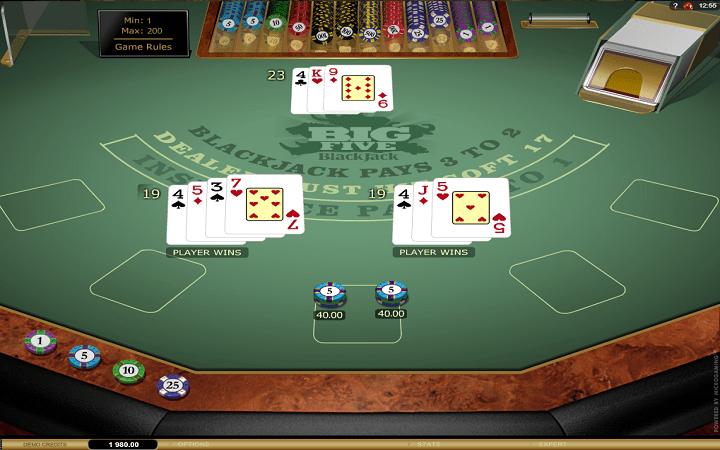Big 5 Blackjack Gold, Microgaming, Online Casino Bonus