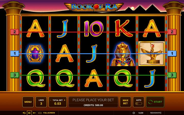 Book of Ra, Greentube, Online Casino Bonus, Isplatne linije