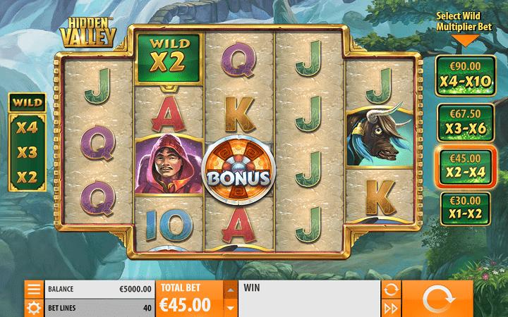Hidden Valley, Quickspin, Playtech, Online Casino Bonus