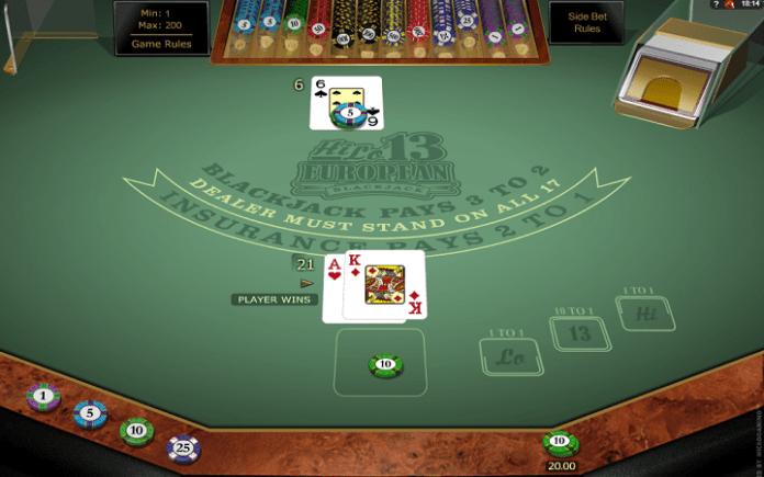 Hilo 13 European Blackjack Gold, Microgaming, Online Casino Bonus