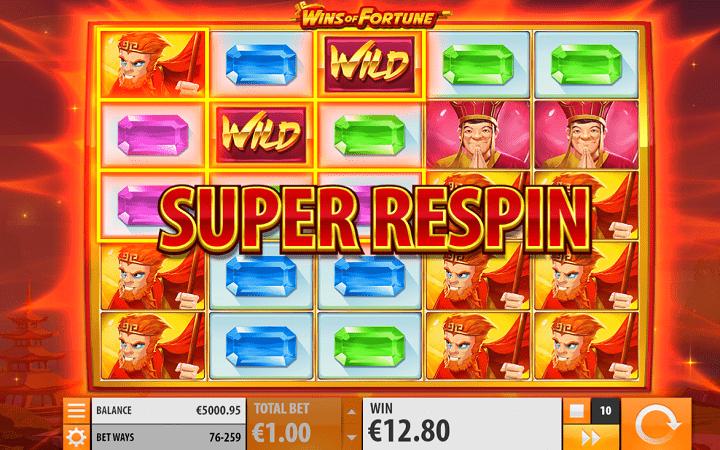 Wins of Fortune, Quickspin, Playtech, Online Casino Bonus