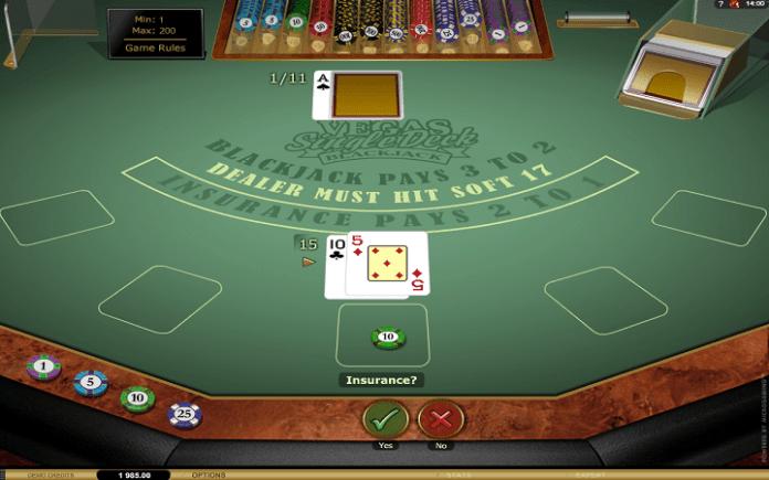 Vegas Single Deck Blackjack Gold