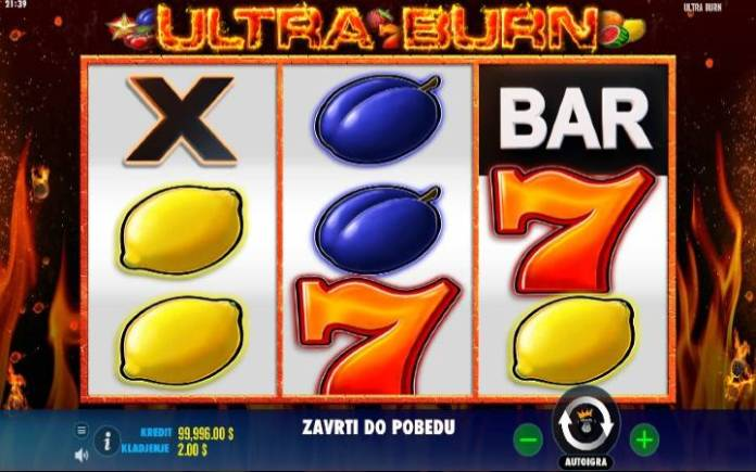 Ultra Burn, Online Casino Bonus, Kockanje