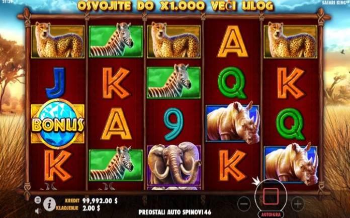 Safari King, Online Casino Bonus