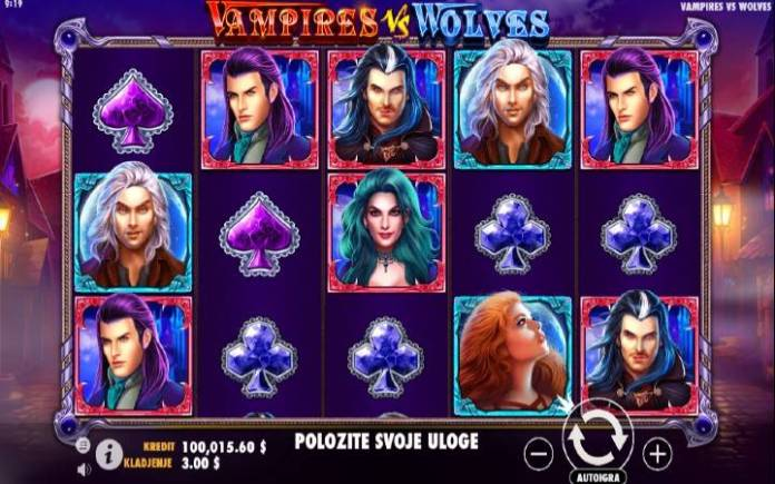 Vampires vs Wolves, Online Casino Bonus