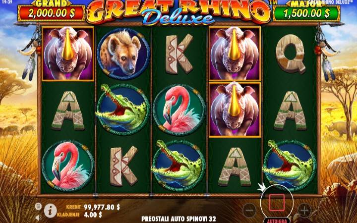 Great Rhino Deluxe, Online Casino Bonus