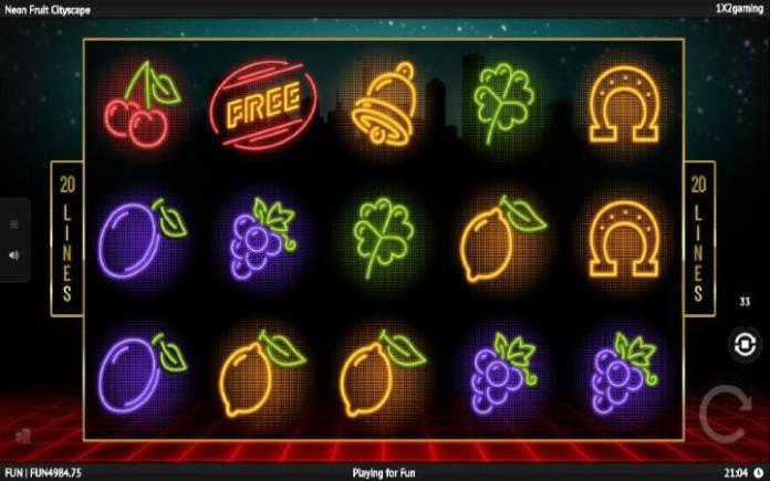 Neon Fruit Cityscape, Online Casino Bonus