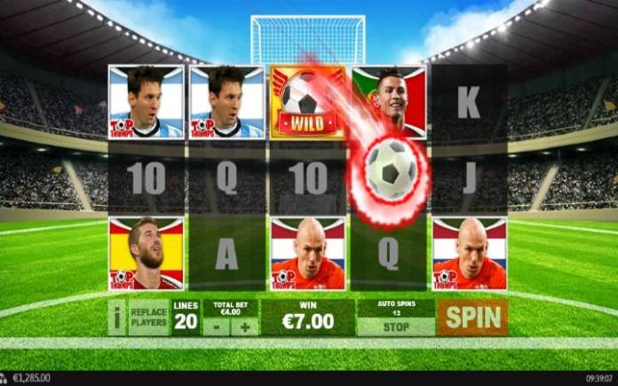 Respin funkcija, Online Casino Bonus, Sporting Legends: Top Trumps Football Stars
