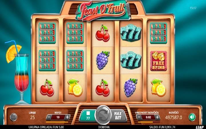 Feast o Fruit, Online Casino Bonus, Leap Casino