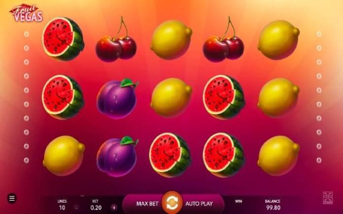 Fruit Vegas, Online Casino Bonus, Mascot Gaming
