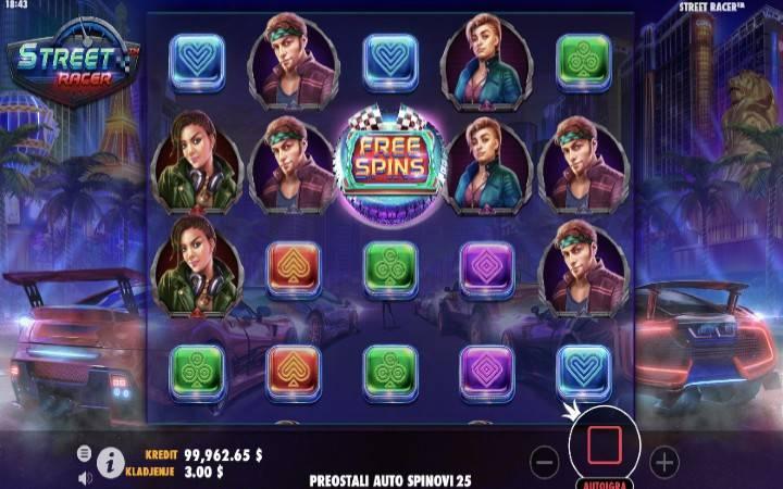 Street Racer, Online Casino Bonus