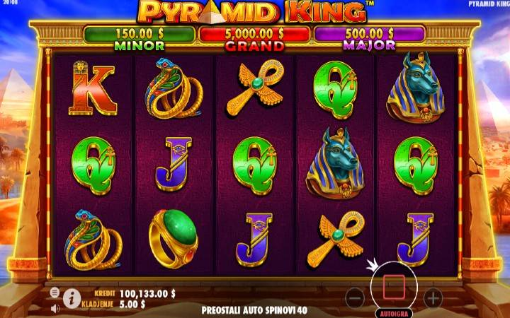Pyramid King, Online Casino Bonus