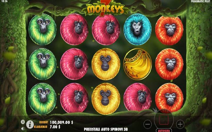 7 Monkeys Online Casino Bonus
