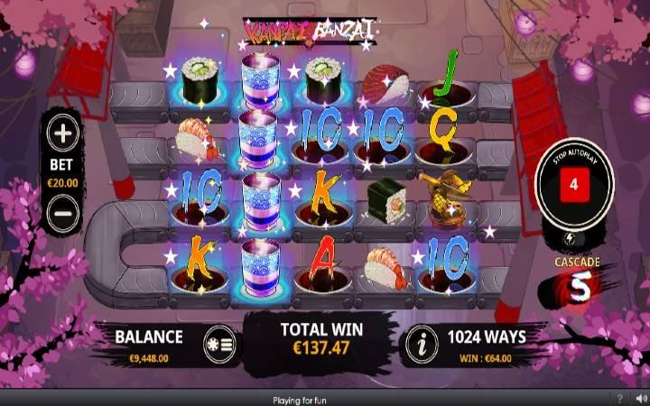 Kanpai Banzai, Online Casino Bonus