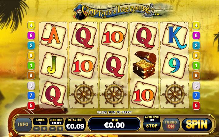 Captain Treasure, Playtech, Online Casino Bonus