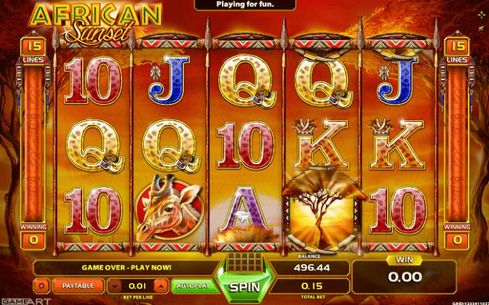African Sunset, GameArt, Online Casino Bonus