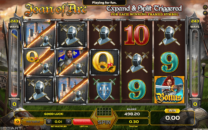 Joan of Arc, GameArt, Online Casino Bonus