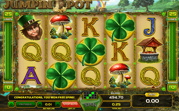 Jumpin Pot, GameArt, Online Casino Bonus
